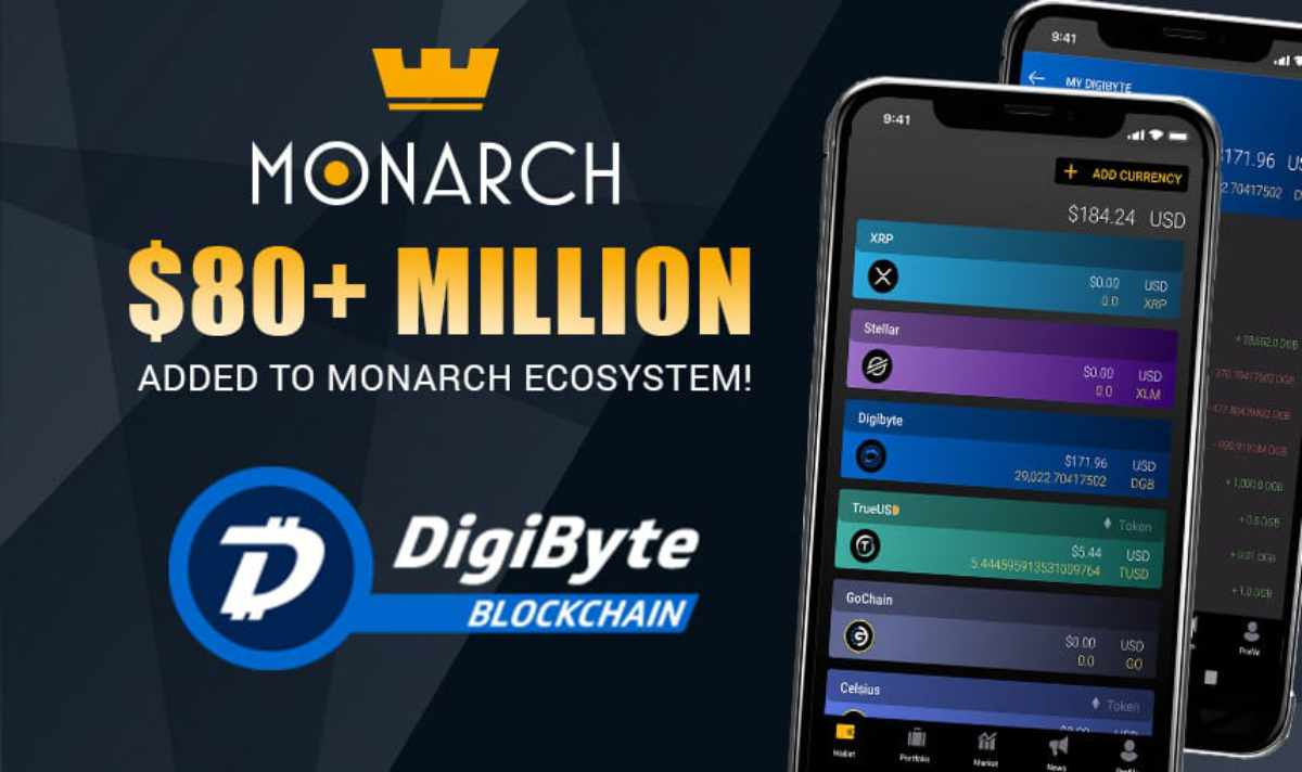 Monarch Wallet Update Adds Digibyte & MonarchPay Now Live on iOS & Android